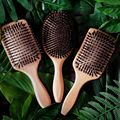 1PC Professional Denman Brush USA Oak Wood Hair Brush Airbag Brush Soft Boar Bristle Brush Hair Straightener Wood Brush For Hair preview-3