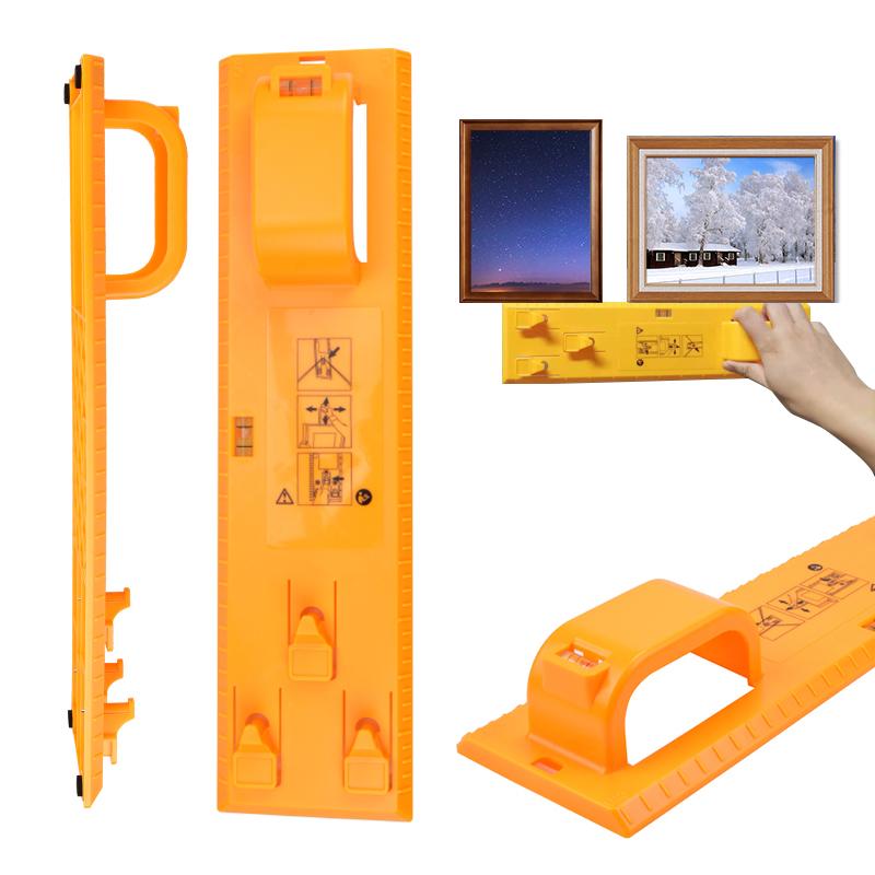 Photo Frame Hanging Tool Pictures Level Ruler Hanger Hooks Easy Hanging Measuring Ruler Tools