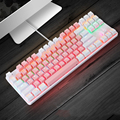 Gaming Mechanical Keyboard 87 keys Game Anti-ghosting Blue Switch Color Backlit Wired Keyboard For pro Gamer Laptop PC preview-6