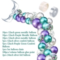 42Pcs Mermaid Balloon Arch Set Mermaid Tail Balloon Little Mermaid Party Decorations Supplies Wedding Girl Birthday Party Decor preview-5