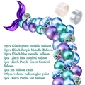 42Pcs Mermaid Balloon Arch Set Mermaid Tail Balloon Little Mermaid Party Decorations Supplies Wedding Girl Birthday Party Decor preview-3