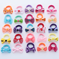 10Pcs Polka Dots Bow Hair Ring Rope Elastic Hair Rubber Bands Hair Accessories for Girls Hair Tie Ponytail Holder Headdress preview-2