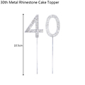 40th Cake Toppers