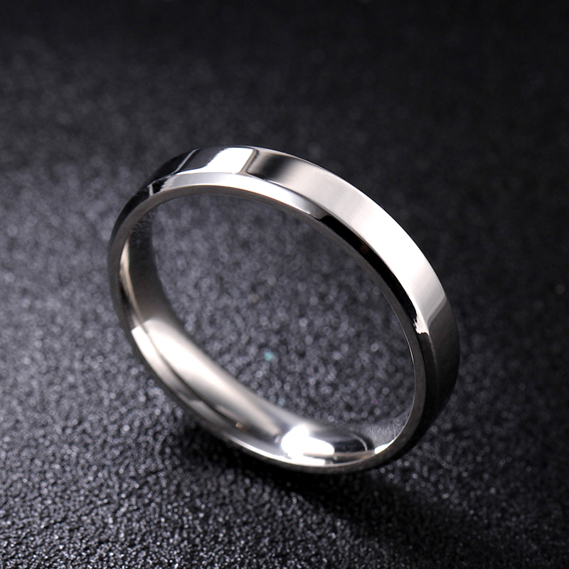 MOREDEAR 4mm 6mm 8mm Bright and Dull Polish Silver Color Titanium Ring For Men and Women Couple Ring