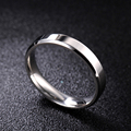 MOREDEAR 4mm 6mm 8mm Bright and Dull Polish Silver Color Titanium Ring For Men and Women Couple Ring preview-1