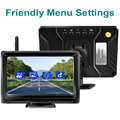 GreenYi 1080P Wireless IPS 5 Inch Car Monitor Rear View Reverse Camera Driving Kit with Stable Digital Signal Auto Parking preview-4