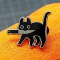 Cartoon Creative Black Cat Modeling Pop-Enamel Pin Lapel Badges Brooch Funny Fashion Jewelry preview-1