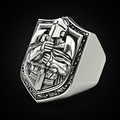 Vintage Templar Knight Rings for Men Domineering Hip Hop Style Christianity Crusaders Religious Ring Jewelry Accessories preview-2