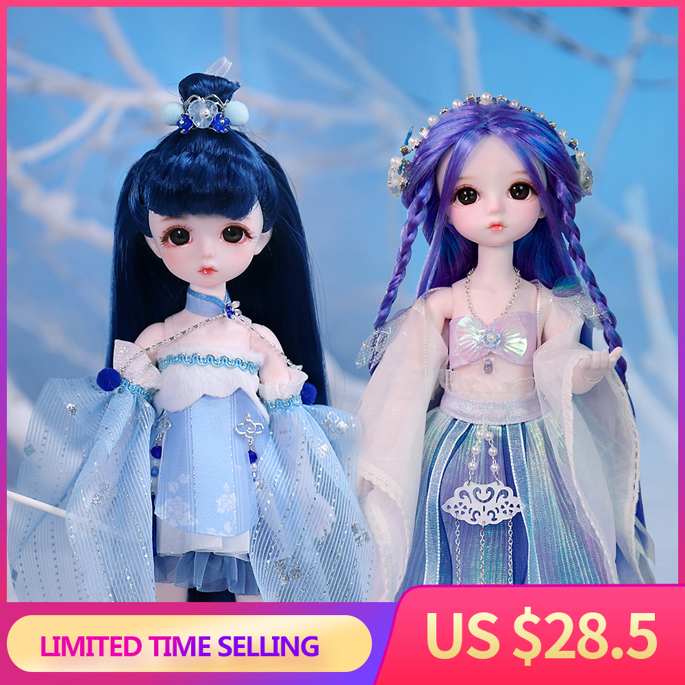 Dream Fairy 1/6 Dolls Court Style 28CM BJD Ball Jointed Doll Full Set Including Clothes Shoes DIY Toy Gift for Girls
