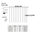 Christmas Decorations for Home 3m Curtain String Light Flash Fairy Garland Home Decor Navidad 2021 Xmas Decoration New Year 2022 preview-6