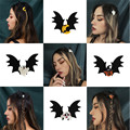 Cosysail Halloween Decoration Hair Accessories for Female Girl Butterfly Skull pumpkin bat wings Hair Clip Headwear Cosplay 2021 preview-2