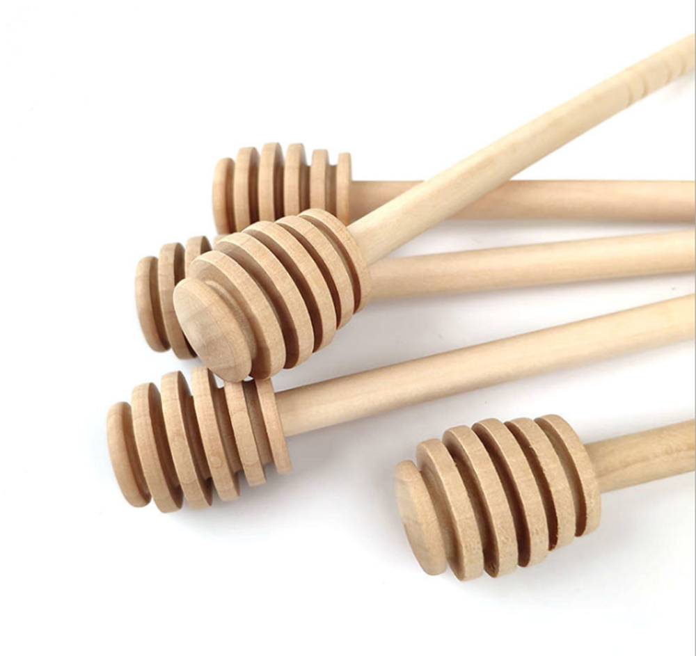 2PCS Long Handle Wood Honey Stir Bar Practical Honey Mixing Stick Jar Spoon Supplies For Coffee Milk Tea Kitchen Tool preview-4