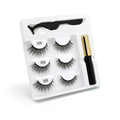 100 Pcs Eyelash Packaging Box Bulk Wholesale Custom 3D Mink Lashes Boxes Packaging With Logo Makeup Set Eyelashes Case Pack preview-6