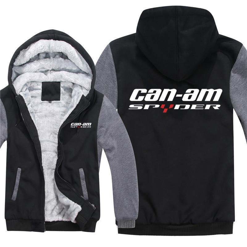 Winter Can Am Spyder Motorcycles Hoodies Men Fashion Coat Pullover Wool Liner Jacket Can Am Spyder Sweatshirts Hoody