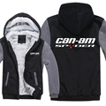 Winter Can Am Spyder Motorcycles Hoodies Men Fashion Coat Pullover Wool Liner Jacket Can Am Spyder Sweatshirts Hoody preview-1