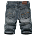 2020 Summer New Men's Denim Shorts Classic Black Blue Thin Section Fashion Slim Business Casual Jeans Shorts Male Brand preview-3