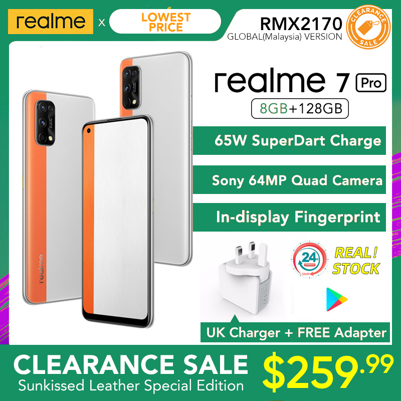 realme 7 Pro Global Version 8GB RAM 128GB ROM 65W SuperDart Charge 64MP Quad Camera AMOLED In-display Fingerprint preview-7