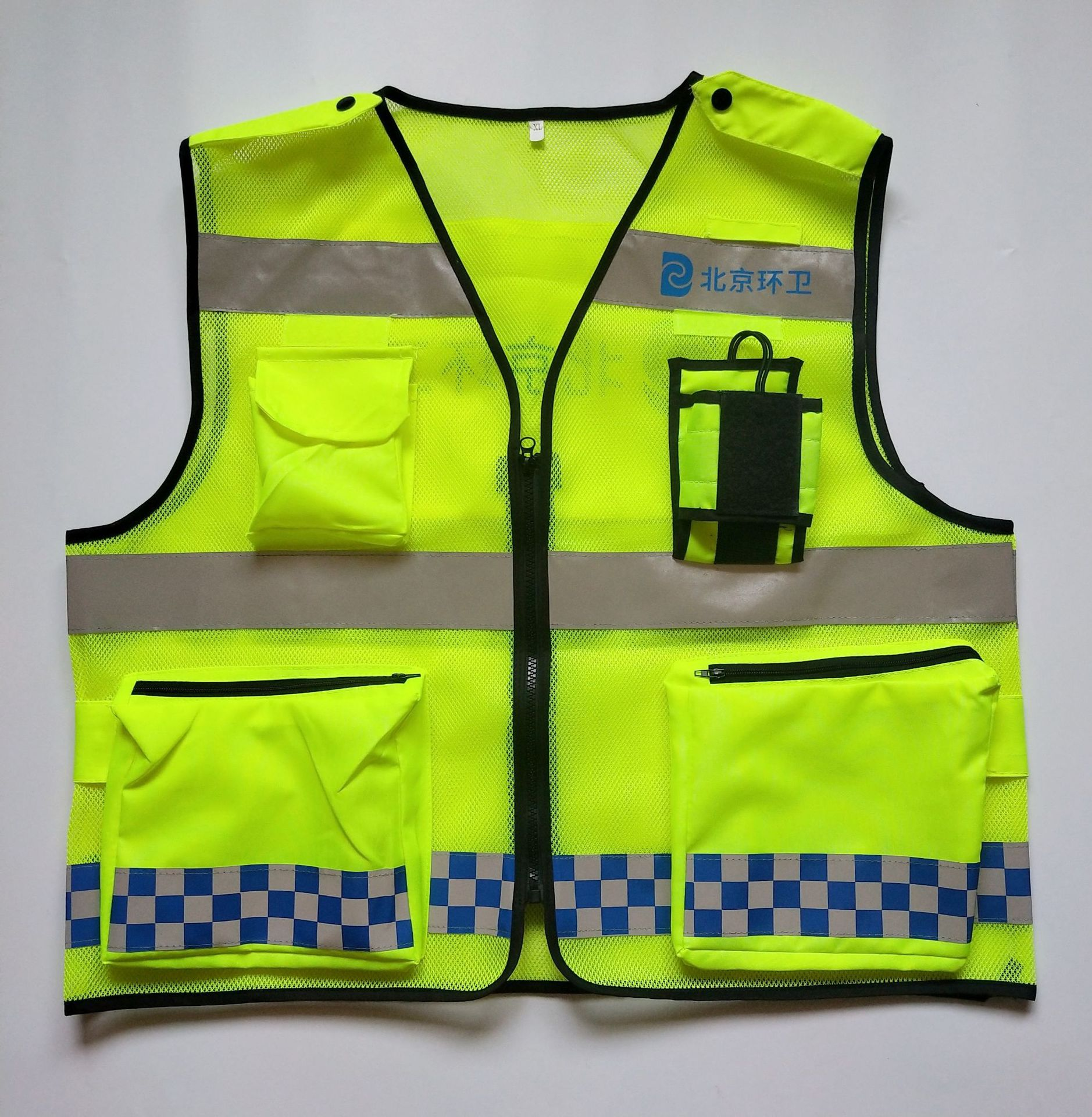 Reflective Mesh Safety Vest High Visibility Multi Pockets Breathable Workwear Construction Work
