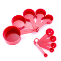 10pcs 7 Color Measuring Cups And Measuring Spoon Scoop Silicone Handle Kitchen Measuring Tool FreeShipping preview-5