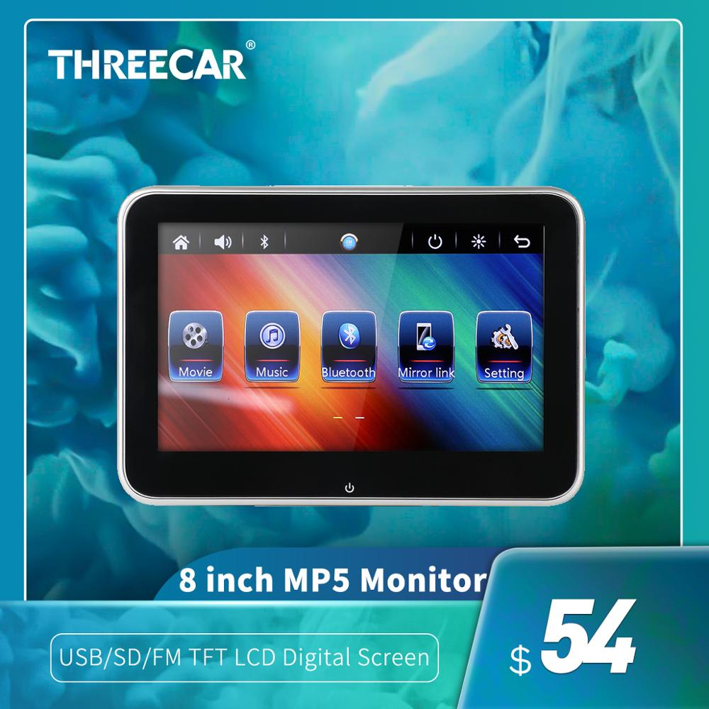"""10""""/8""""HD Car Headrest Monitor DVD Video Player USB/SD/FM TFT LCD Digital Screen Touch Button Game Remote Control  Car MP5 Player"""