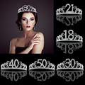 Birthday Party Decoration 18 21 30 40 50 Rose Gold Satin Sash Crystal Crown Tiara Happy Birthday Anniversary Party Supplies preview-3