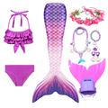 Swimming Mermaid Tail Kids Girls Costume Cosplay Children Swimsuit Fantasy Beach Bikini Can Add Monofin Fin preview-5
