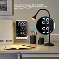 6 Inch LED Mirror Alarm Clock Touch Button Wall Digital Clock Time Temperature Humidity Display USB Output Port Table Clock preview-5