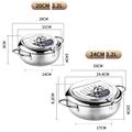 Tempura Temperature Meter Frying Deep Fryer Pot Pans Induction Heating Stainless Steel Grill Pan Lid Kitchen Utensils Cookware preview-4