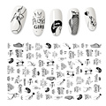 3D Flower Nail Stickers Women Face Sketch Abstract Butterfly Image Sexy Girl Nail Art Decor Sliders Manicure Stickers for Nails preview-4