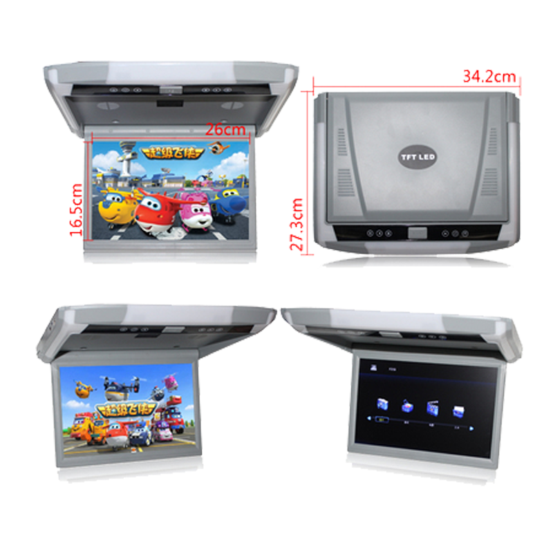 """2021 Newest  12.1 / 10.4 """"TFT LCD 1080P Car Monitor Roof Mount Car Monitor with MP5 Player USB SD Car Ceiling Monitor preview-3"""