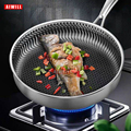 AIWILL New Kitchen High Quality 316 /304 Stainless Steel Frying Pan Nonstick Pan Fried Steak Pot Electromagnetic Furnace General preview-5