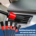 Detailing Brush Set Car Cleaning Brushes Power Scrubber Drill Brush For Car Leather Air Vents Rim Cleaning Dirt Dust Clean Tools preview-4