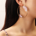 Beautiful Double Butterfly Earrings European Summer Girls Multicolor Big Round Circle Gold Hoop Earrings 11.11 Jewelry For Women preview-1
