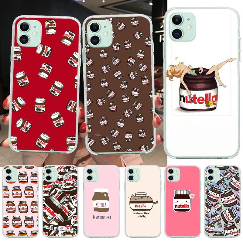 PENGHUWAN chocolate Food Tumblr Nutella DIY Luxury Phone Case for iPhone 11 pro XS MAX 8 7 6 6S Plus X 5S SE XR cover