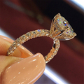 Fashion Women Jewelry Ring Elegant Crystal Rhinestones Ring For Women Accessories Bride Wedding Party Ring Gift preview-1