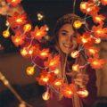 Halloween Decoration Thanksgiving Decor Pumpkin Light, Lighted Garland Battery Garland Home Indoor Outdoor Decor Halloween Maple preview-2