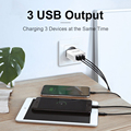 QGEEM 3 USB Charger Quick Charge 3.0 Fast USB Wall Charger Portable Mobile Charger QC 3.0 Adapter for Xiaomi iPhone X EU US Plug preview-2