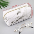 Large Cute Pencil Case Pouch Pen Box Zipper Bags Marble Makeup Storage Supplies for Student 1014 preview-3