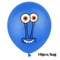 10Pcs Sponge Party Supplies Boy or Girl Bob Latex Balloons Happy Birthday Cartoon Theme Decoration Kids Ballon Party Decor preview-3