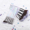 FLD Crystal Makeup Brushes Powder Foundation Eyeshadow Eyebrow Cosmetics for Face Fan Make Up Brush Set Brochas Maquillaje preview-5
