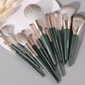 14Pcs Makeup Brushes Set Cosmetic Foundation Powder Blush Eye Shadow Lip Blend Wooden Make Up Brush Tool Kit Maquiagem preview-1