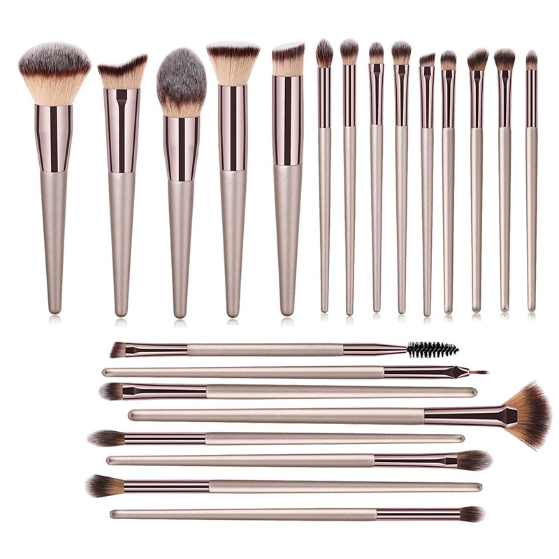 22 PCs Makeup Brushes Champagne Gold Premium Synthetic Concealers Foundation Powder Eye Shadows Makeup Brushes