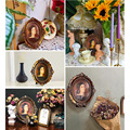 6/7 Inches European Style Vintage Golden Carved Resin Photo Frame Picture Frame Retro Art Home Decoration Ornaments preview-5