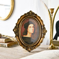 6/7 Inches European Style Vintage Golden Carved Resin Photo Frame Picture Frame Retro Art Home Decoration Ornaments preview-4