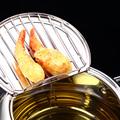 Tempura Temperature Meter Frying Deep Fryer Pot Pans Induction Heating Stainless Steel Grill Pan Lid Kitchen Utensils Cookware preview-5