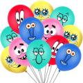 10Pcs Sponge Party Supplies Boy or Girl Bob Latex Balloons Happy Birthday Cartoon Theme Decoration Kids Ballon Party Decor preview-1