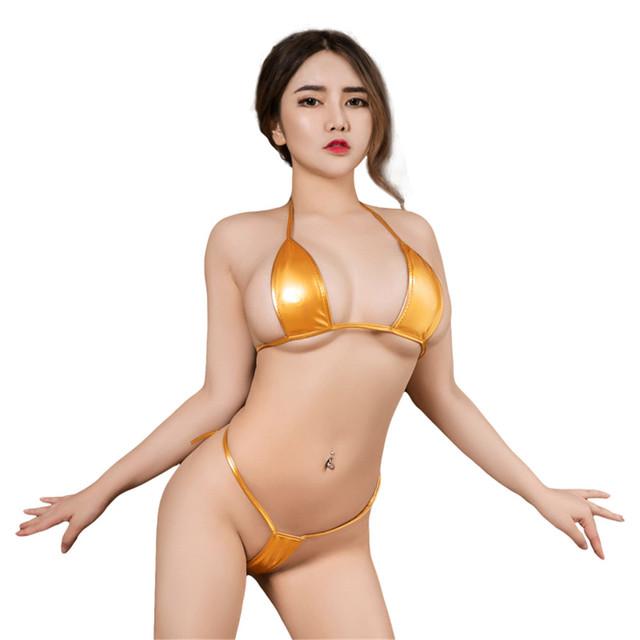 Leather Micro Bikini