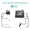 GreenYi Wireless 1080P 5 Inch Foldable IPS Car Monitor Reverse Rear View Camera Driving Kit with Stable Digital Signal preview-2