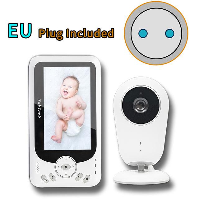 TakTark 4.3 inch Wireless Video Baby Monitor Sitter portable Baby Nanny Security Camera IR LED Night Vision intercom