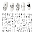3D Flower Nail Stickers Women Face Sketch Abstract Butterfly Image Sexy Girl Nail Art Decor Sliders Manicure Stickers for Nails preview-3